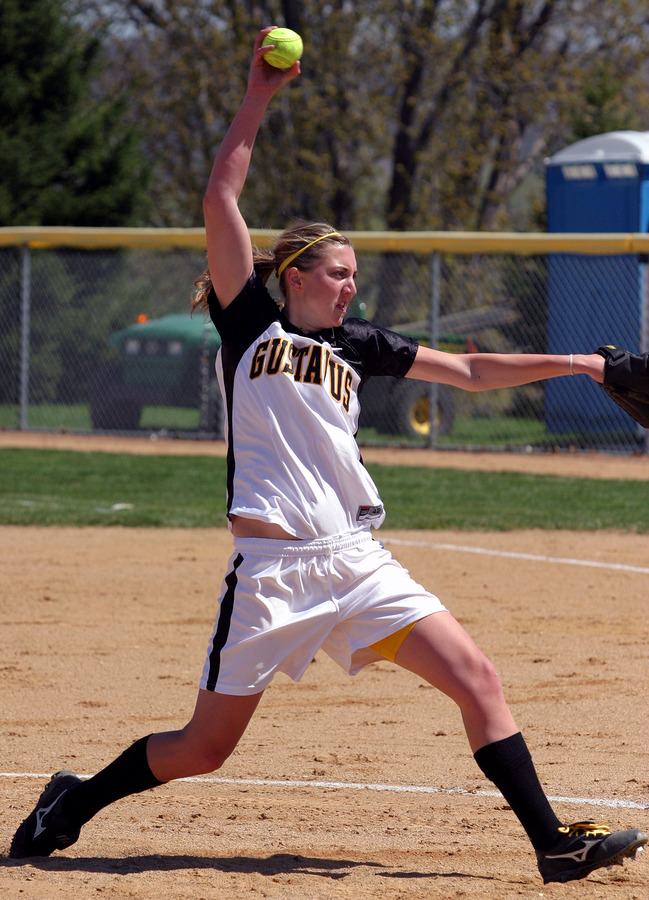 Joyce DeWitz picked up the win in game two for the Gusties