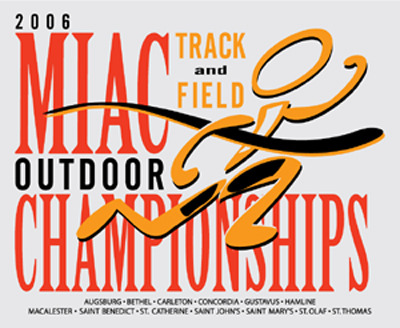 The Gustavus Adolphus women are tied with Macalester for second after day one of the MIAC Track and Field Championships.