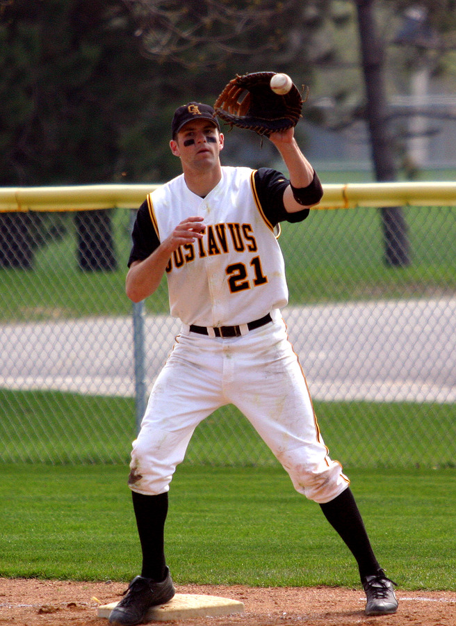 Sherer is Gustavus' all-time leader in fielding percentage at .987.