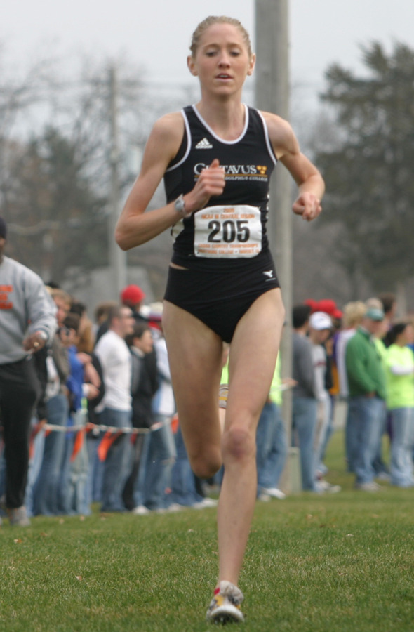 Harren crossing finish line at NCAA Regional