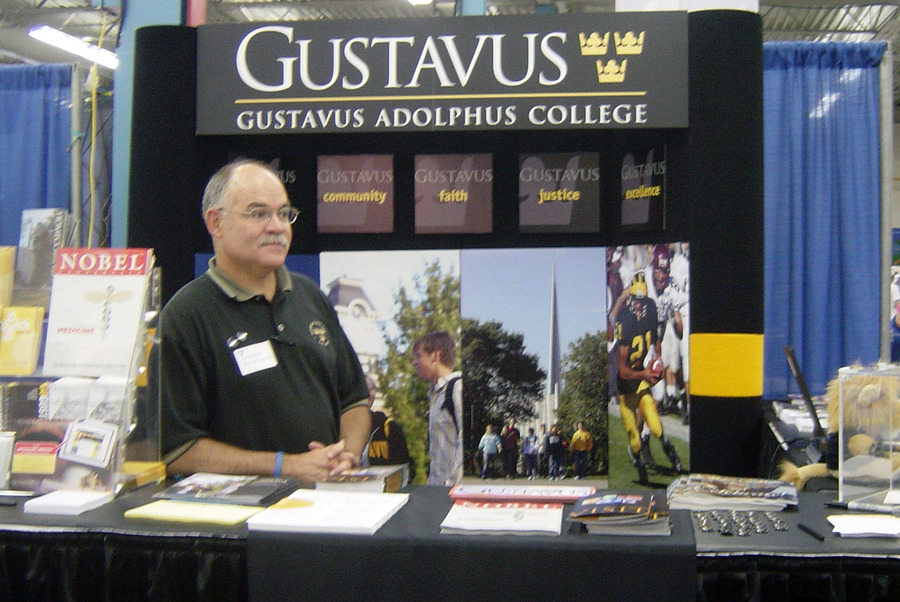 The Gustavus Adolphus College state fair booth is again in the Education Building. Stop and visit 9 a.m.-9 p.m. Aug. 24-Sept. 4.