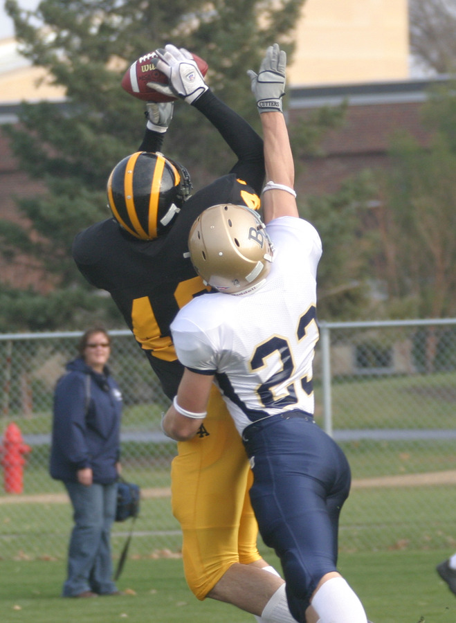 Arlt is shown making a grab in last season's game against Bethel.
