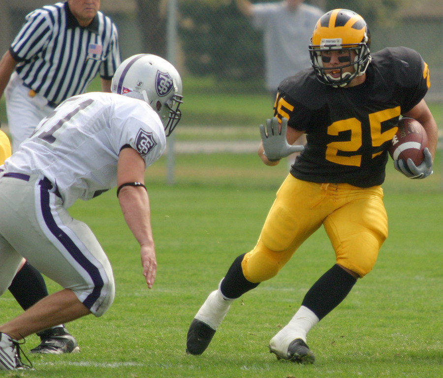 Mitch Anderson was the Gusties' leading rusher on the day with 57 yards on 17 carries.