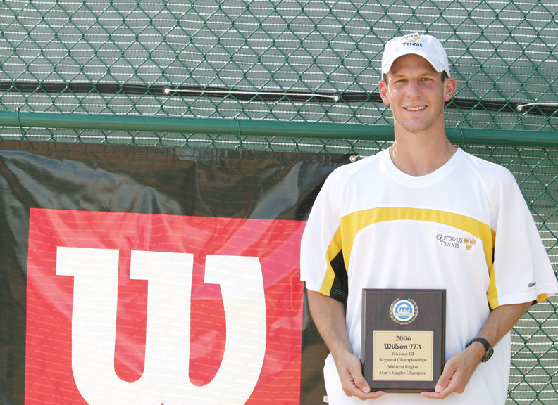 Senior Jesse Brauer captured the singles title at the Wilson/ITA Midwest Region Championships.