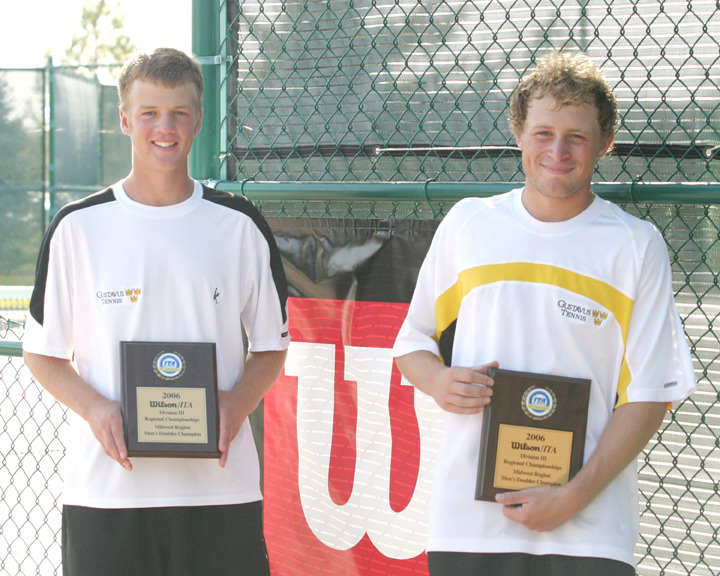 Sophomores Charlie Paukert and Mike Burdakin took the doubles title at the Wilson/ITA Midwest Region Championships.