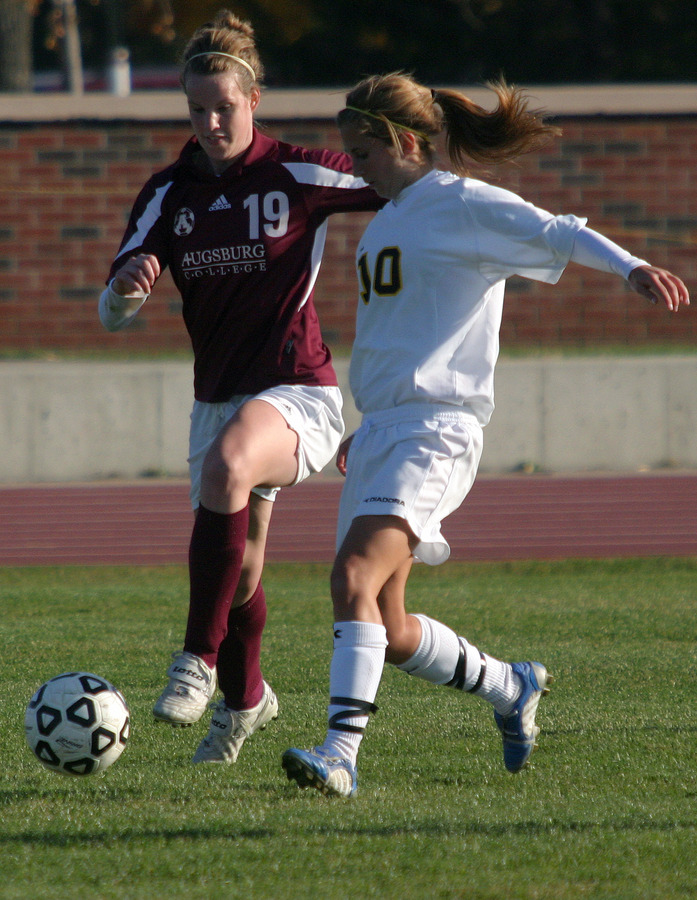 Becca Hagen scored the game-winning goal on Wednesday against Augsburg.