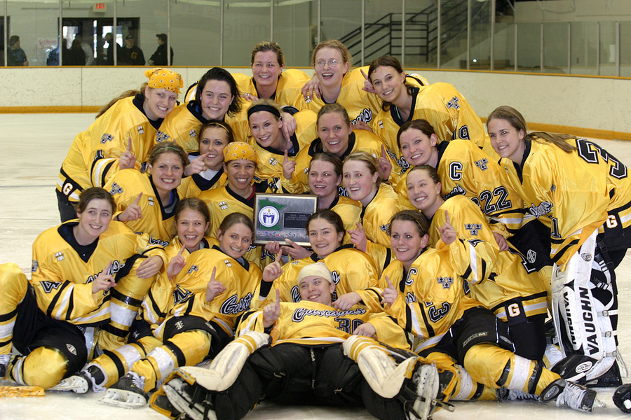 The Gustavus women's hockey team captured the MIAC title and finished fourth at the NCAA Division III Championships last season.