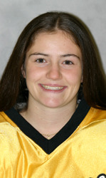 Kelly Crandall scored the Gusties' first goal of the season, her 100th career collegiate point.
