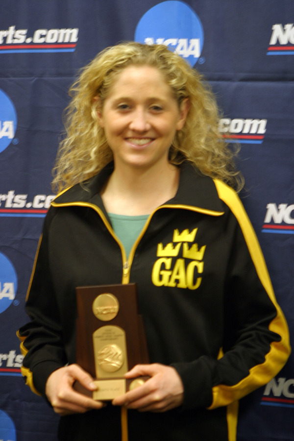 Harren with 8th place NCAA Trophy.