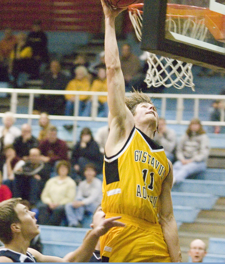 Trevor Wittwer takes the ball to the rim.