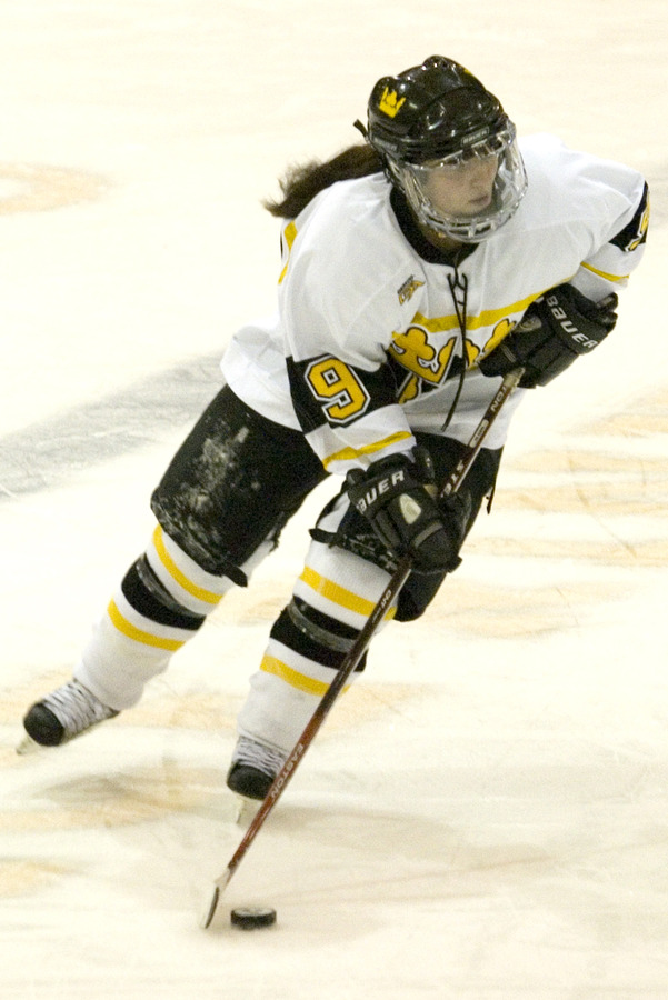 Kelly Crandall recorded three of the four goals in the game.