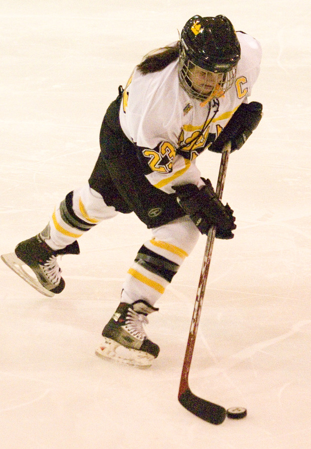 Senior captain Andrea Peterson was credited with six shots.