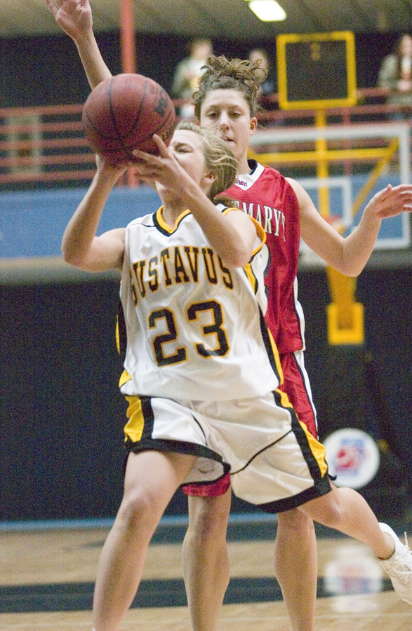 Ashley Raymo drives the lane for two against the Cardinals.