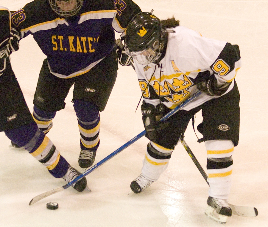 Kelly Crandall posted two goals for the Gusties on Senior Day.