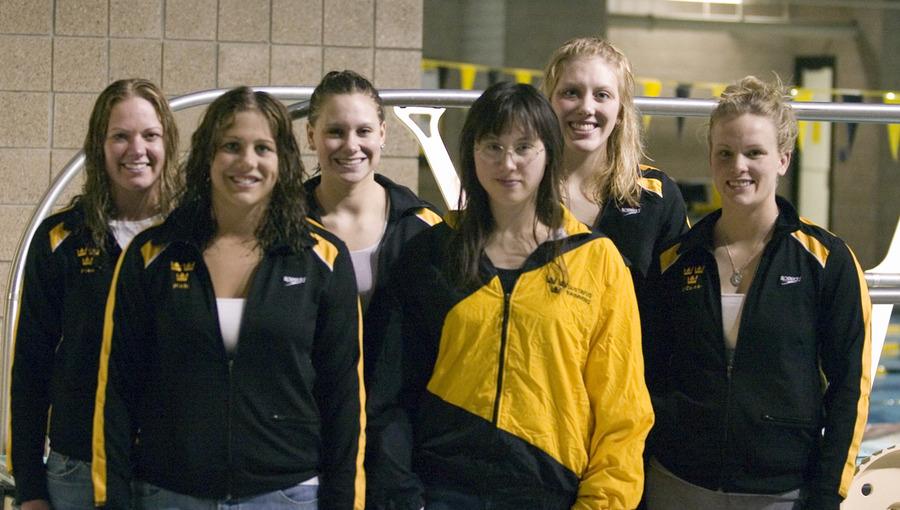 Front row (l to r): Janae Piehl, Yoshi Ludwig, Christi O'Connor;  Back Row: Sara Pfau, Carrie Gundersen, Sarah Koepp.