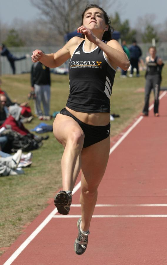 Sari Lindeman took meet titles in both the long jump and triple jump Saturday.