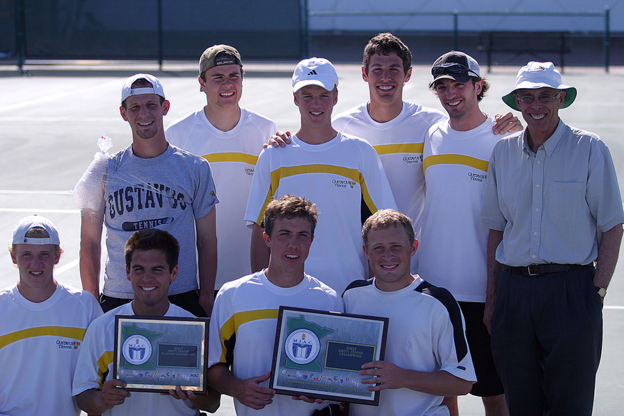 The Gustavus Adolphus men's tennis team captured the MIAC Men's Tennis Tournament title and a bid to the NCAA Championships.