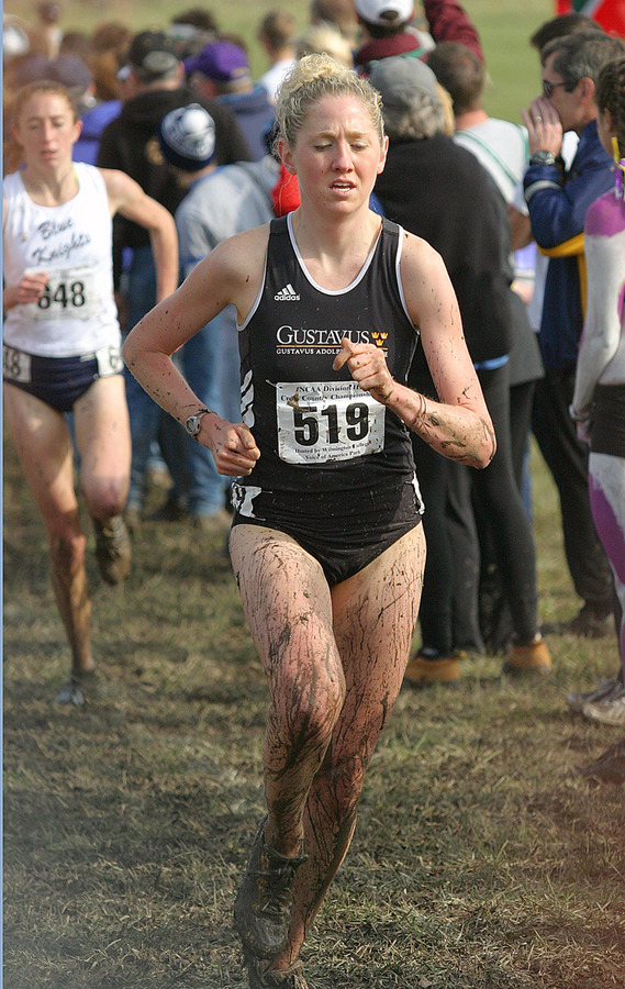 Harren running at the 2006 NCAA Cross Country Championships