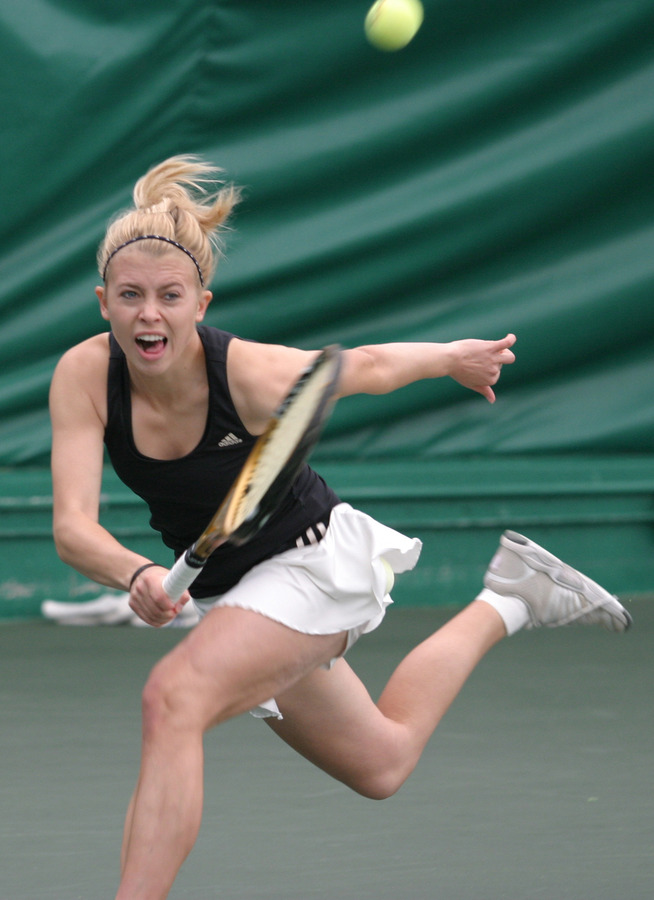 Hom and Sierra Krebsbach (pictured) have been selected for the doubles draw at the NCAA Championships.