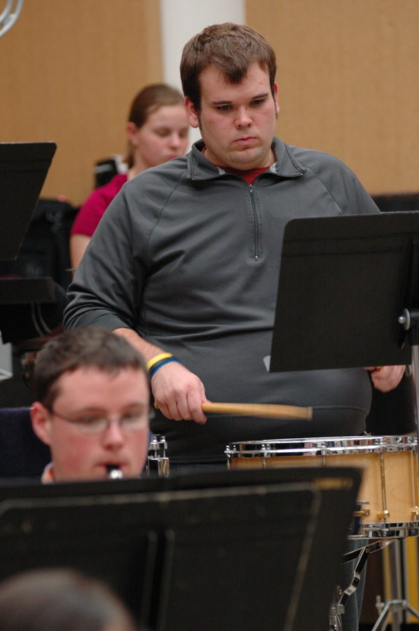 Andrew Jensen in Rehearsal with Gustavus Wind Orchestra