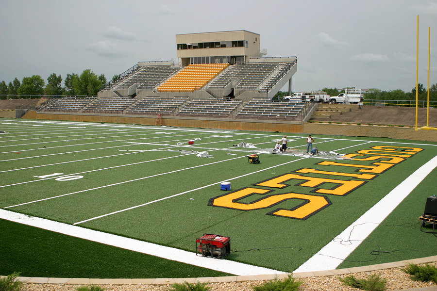 View from the northeast corner of the field.