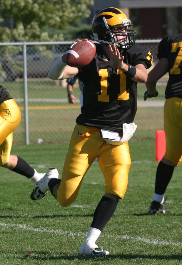 Quarterback Jordan Stolp begins his fourth year as the starter for Gustavus.