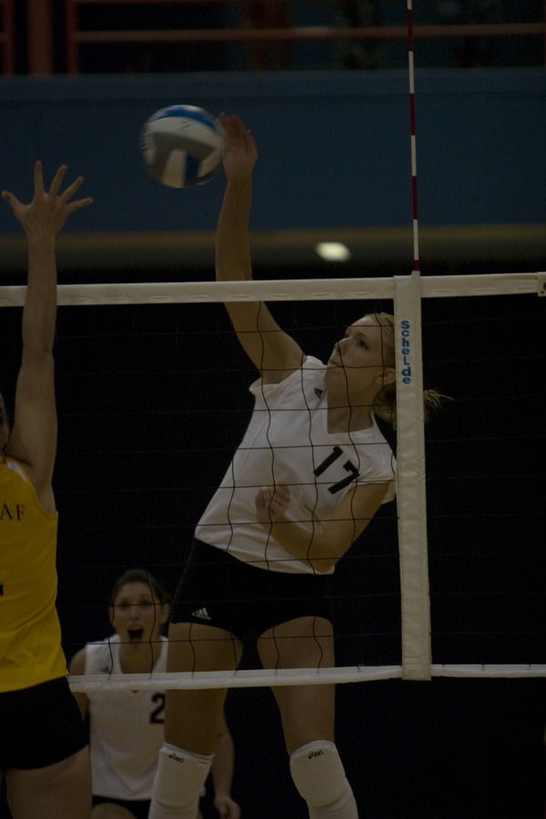 Andrea Kron with the attack