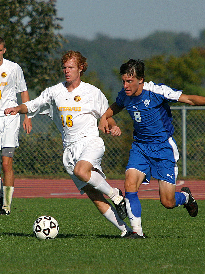 Underwood is a starting midfielder for Gustavus.