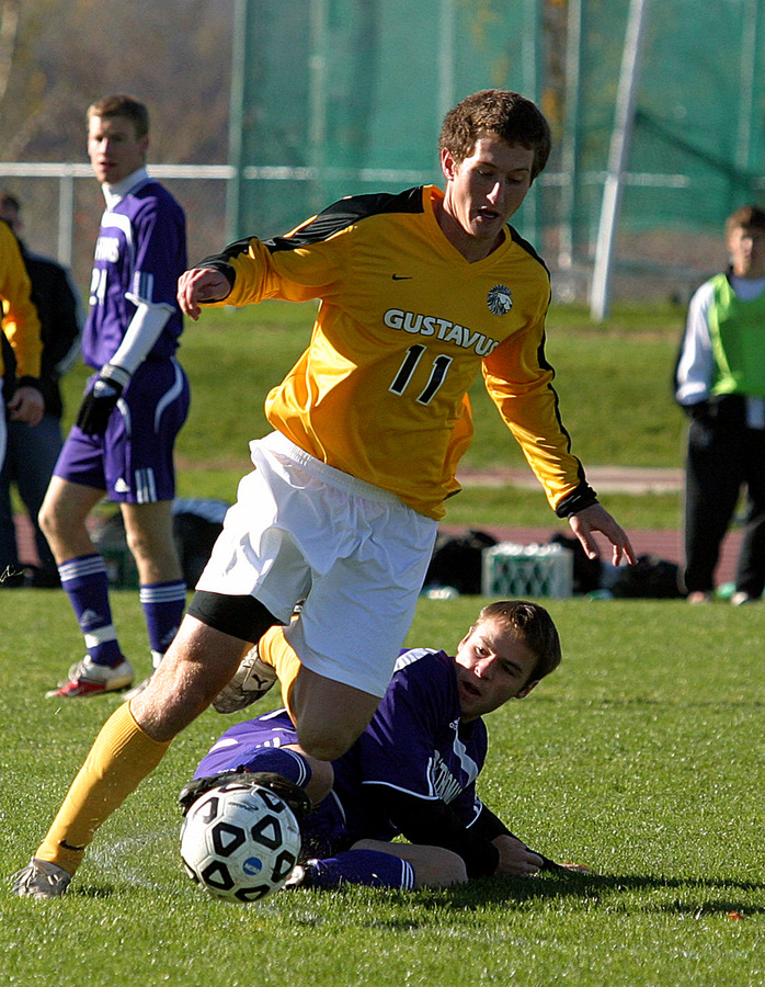 Sophomore midfielder Fraser Horton has been a key factor in the middle for Gustavus.
