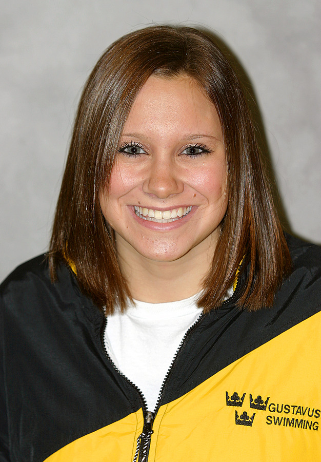 Carrie Gundersen turned in three individual first place finishes against St. Olaf.
