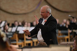 Warren Friesen is the conductor of the Gustavus Symphony Orchestra.