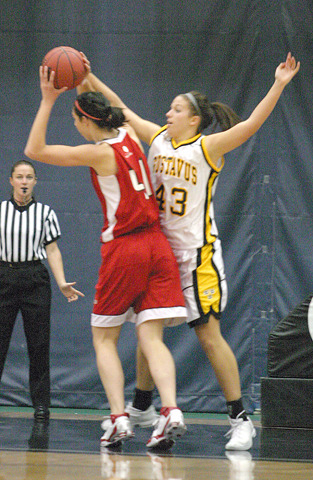 Katie Layman scored 12 points in the first meeting against Saint Benedict.