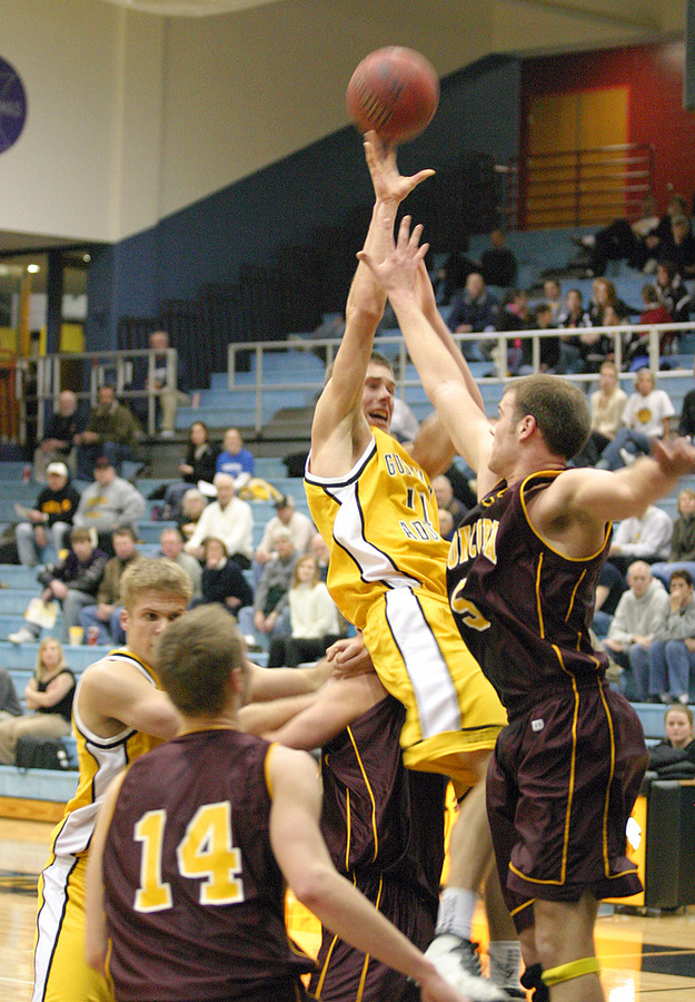 Trevor Wittwer is fouled taking a jumper in the paint.
