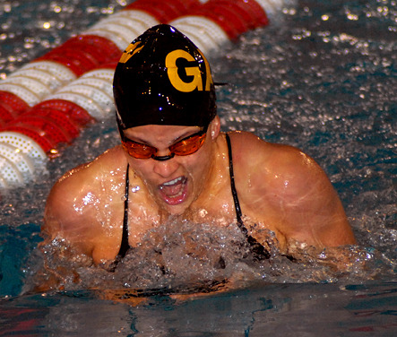 Christi O'Connor took first-place in the 200 backstroke.