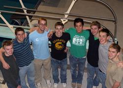 NCAA Participants (L to R): Hanson, Ziegler, Wakefield, W. Davis, Auyeung, Pearson, S. Davis, and Stewart