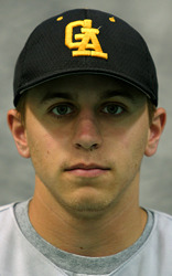 Pitcher Dave Wold scattered four hits and allowed one run to help the Gusties win game one.
