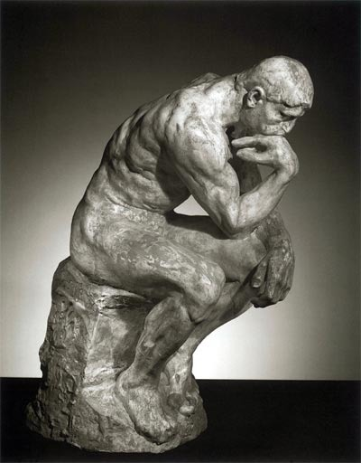 <i>The Thinker</i> by Auguste Rodin was first modeled in 1880.