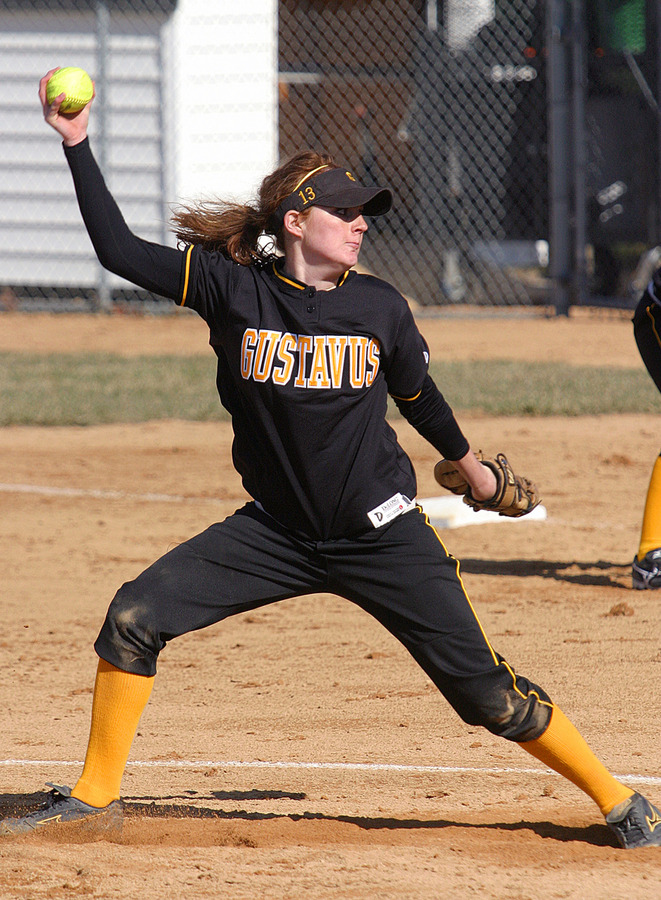 Betsie Collins recorded 11 strikeouts in the first game of the doubleheader.