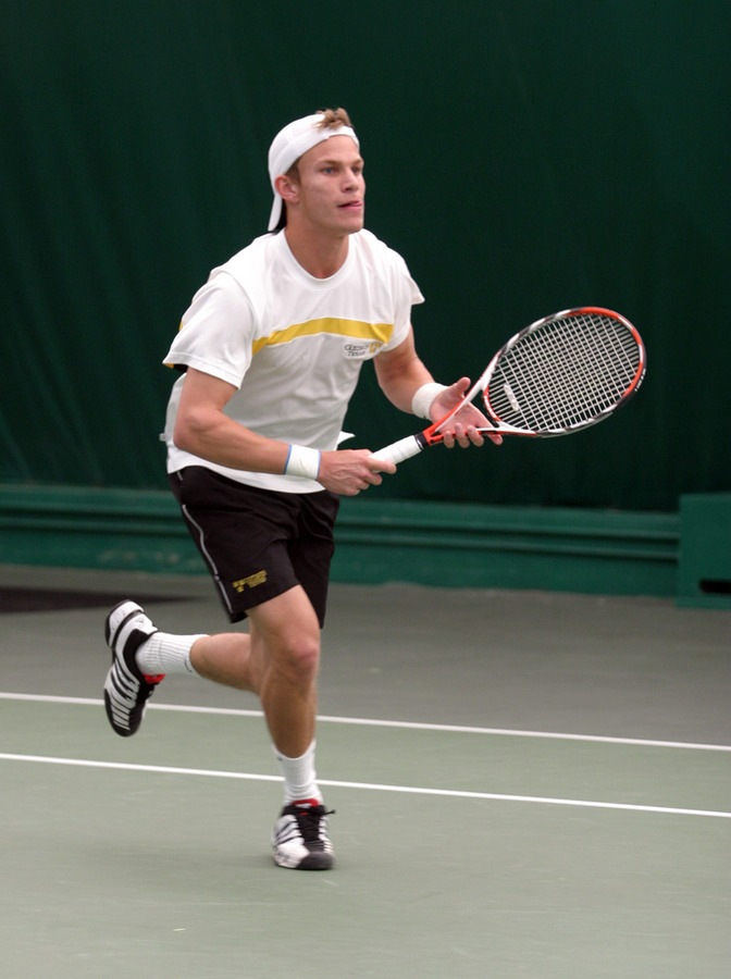 Kevin Stickney posted a win at #6 singles.