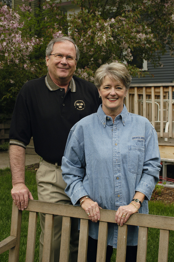James and Susan Peterson received the 2008 Greater Gustavus Award.