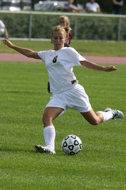 Ashley Voigtlander gets set to send a ball up the field.