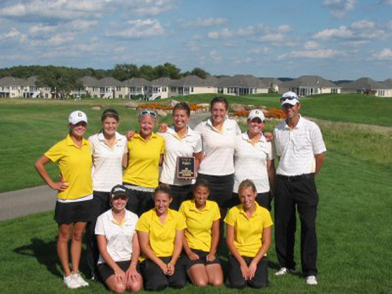 Gusties With Wartburg Invitational Trophy