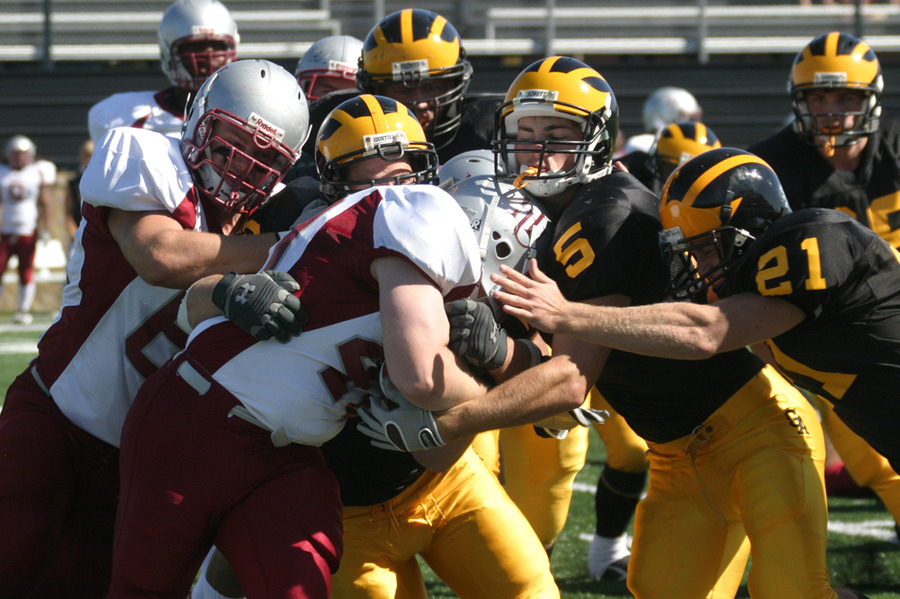 The Gustavus defense made key stops against Coe.