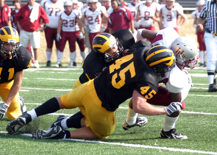 Tony Palma led Gustavus with 11 total tackles.