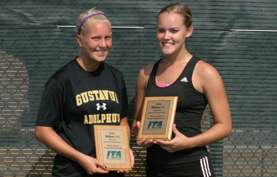 Samanth Frank (left) and Megan Gaard (right) with second place trophies.