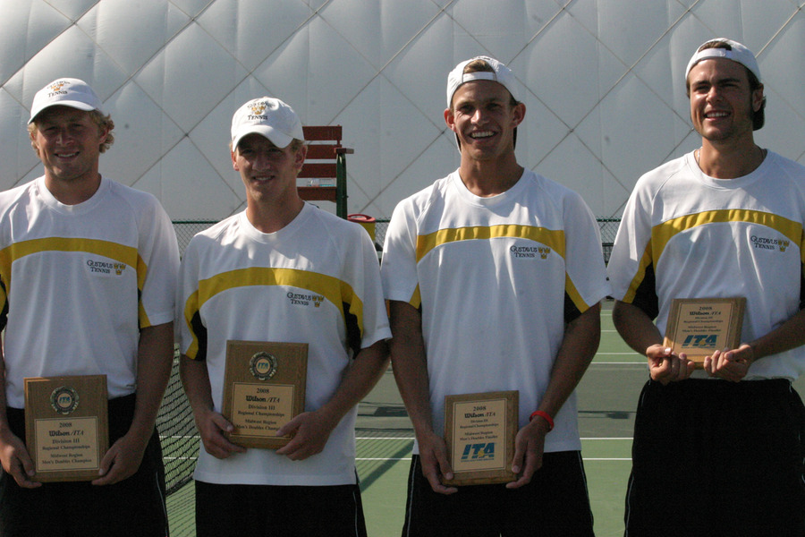 Doubles finalists Mike Burdakin and John Kauss and Kevin Stickney and Nick Hansen