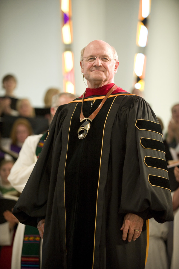 President Jack R. Ohle after having the Presidential Medallion bestowed upon him.