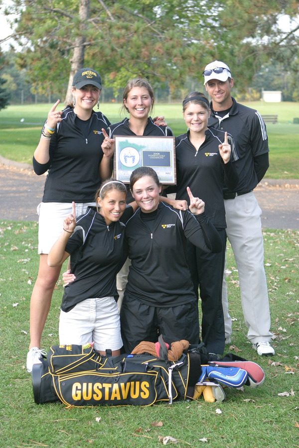 Gustavus Women's Golf Team - 2008 MIAC Champions