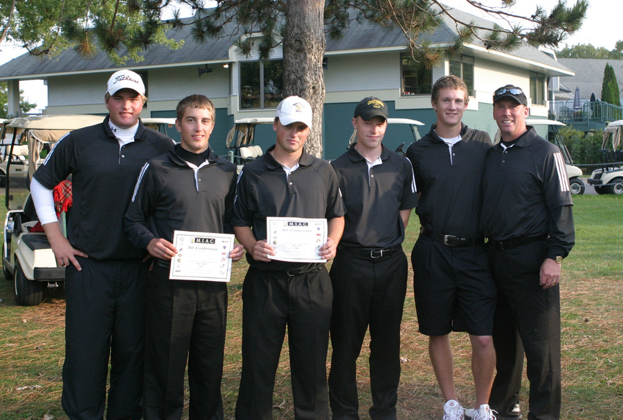 2008 Gustavus men's golf MIAC Tournament Team