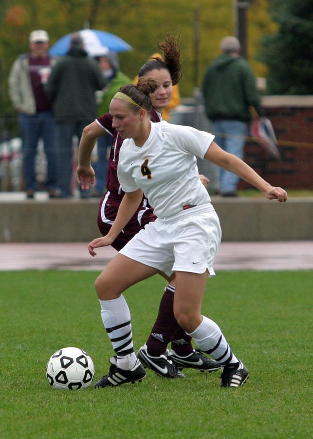Callie Christensen scored the only goal for Gustavus